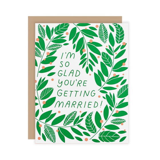 Vines Wedding Card The Good Twin - Foursided