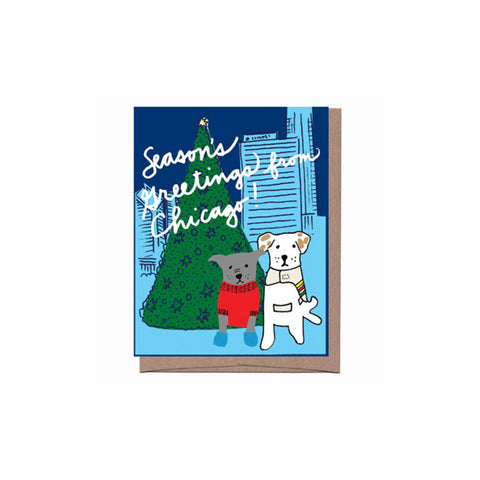 Chicago Dogs Holiday Card Set (8)