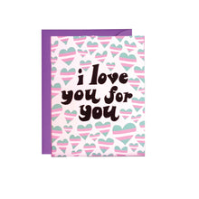Trans I Love You Card Ash + Chess - Foursided