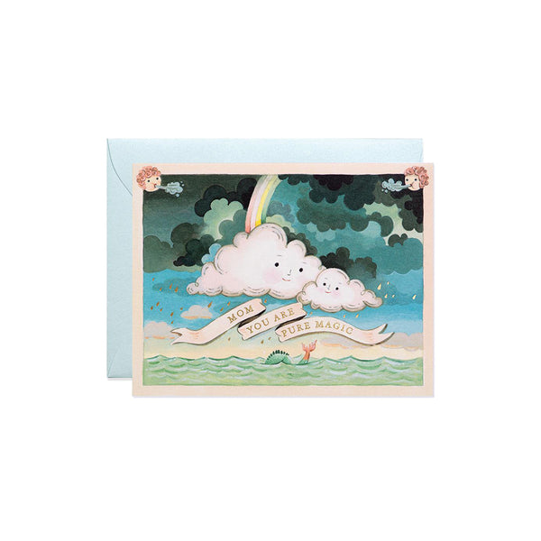Mother's Day Clouds Card JooJoo Paper - Foursided