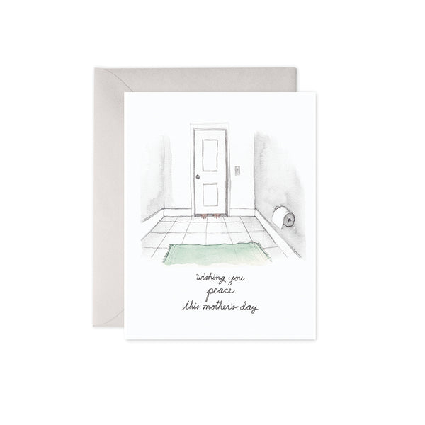 Bathroom Peace Card E. Frances - Foursided