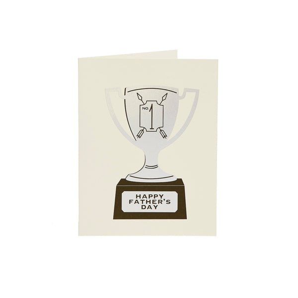 Dad Trophy Card Snow & Graham - Foursided