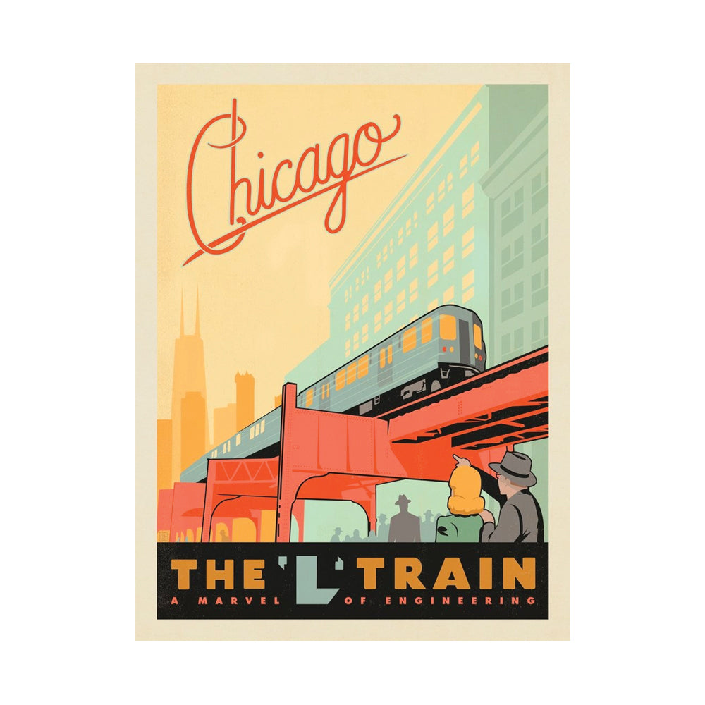 Chicago L Train Print Anderson Design Group - Foursided