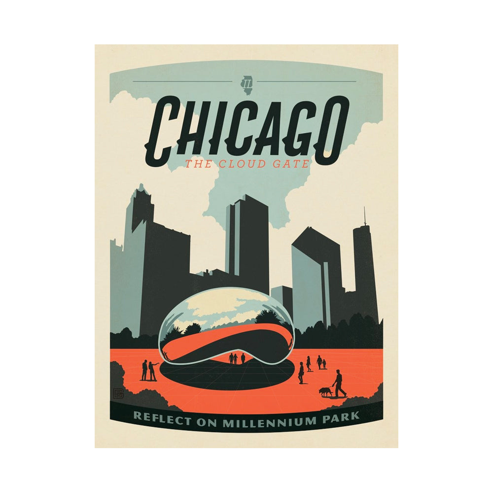Chicago Millennium Park Postcard Anderson Design Group - Foursided