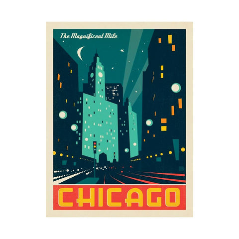 Chicago Modern Magnificent Mile Postcard