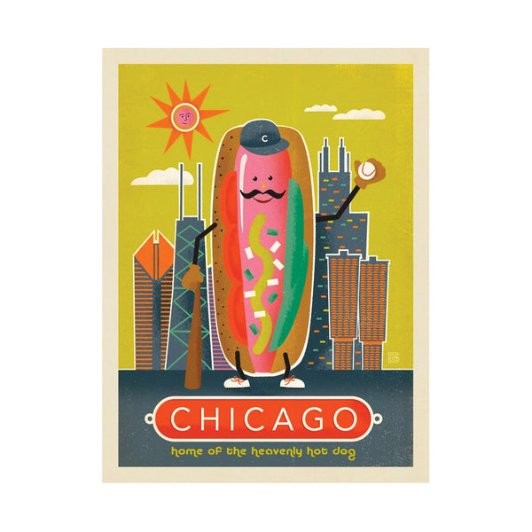 Chicago Style Hotdog Postcard Anderson Design Group - Foursided