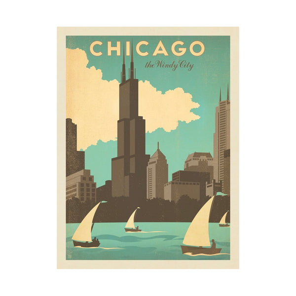 Chicago Windy City Postcard Anderson Design Group - Foursided