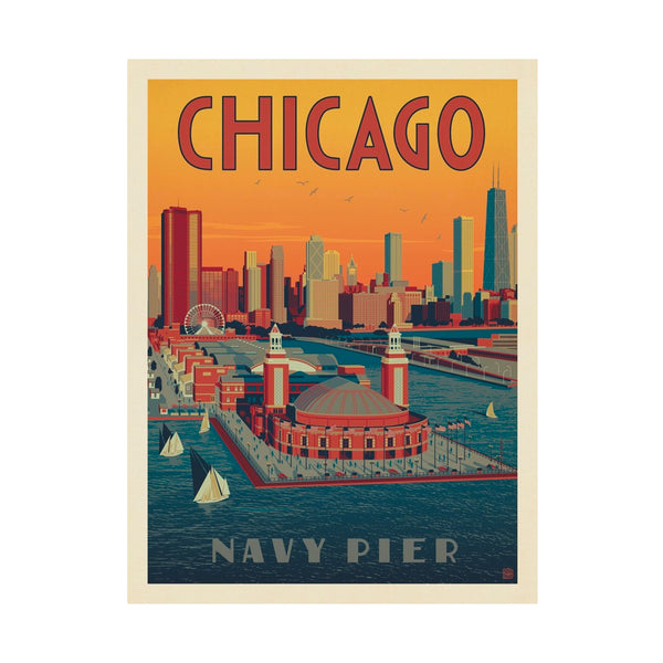 Chicago Navy Pier Postcard Anderson Design Group - Foursided