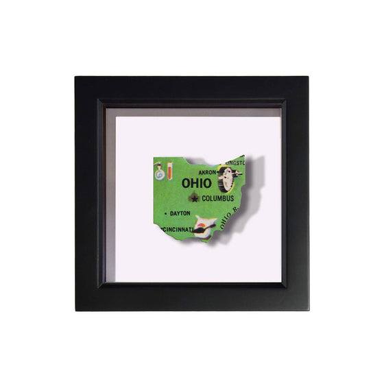 Framed Ohio Puzzle Piece