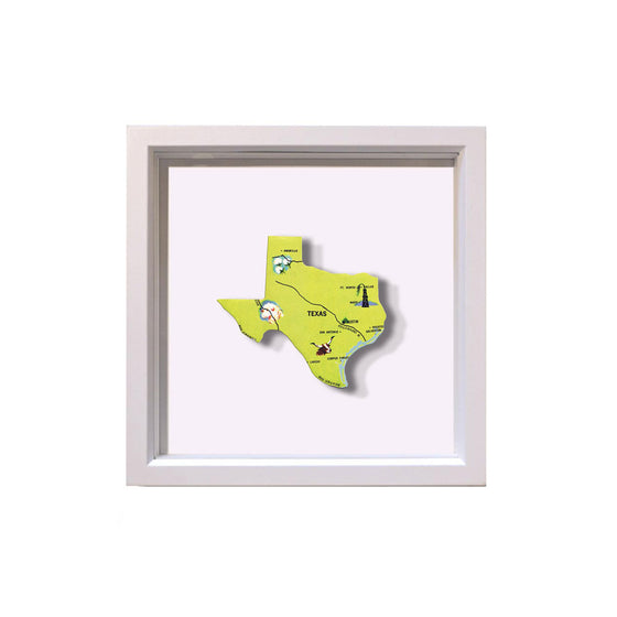 Framed Texas Puzzle Piece
