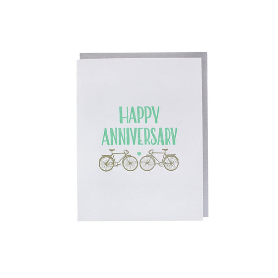 Anniversary Bikes Card smudge ink - Foursided