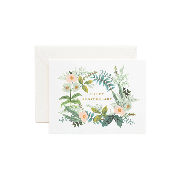 Happy Anniversary Bouquet Card Rifle Paper Co. - Foursided