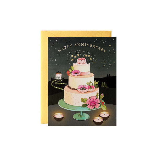 Anniversary Cake Card JooJoo Paper - Foursided