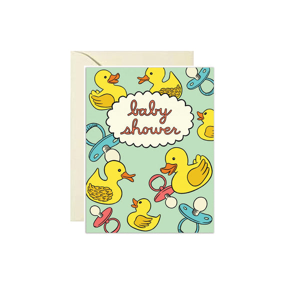 Ducky Baby Shower Card The Found - Foursided