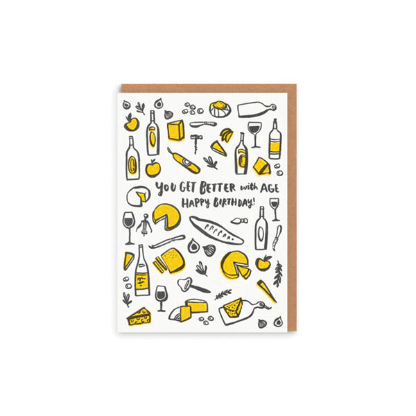 Better With Age Birthday Card Hello Lucky - Foursided