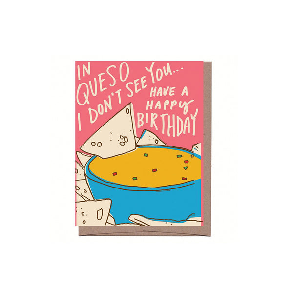 Queso Birthday Card