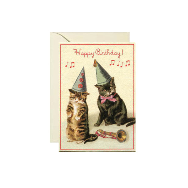 Cats In Hats Birthday Card Cavallini - Foursided