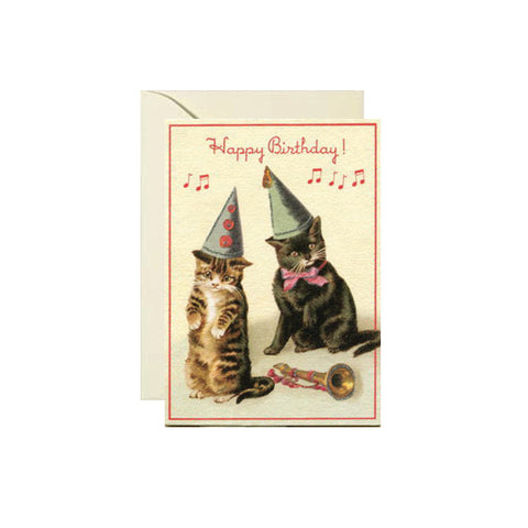 Cats In Hats Birthday Card