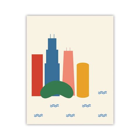 Chicago Color Block Print (Multiple Colors)