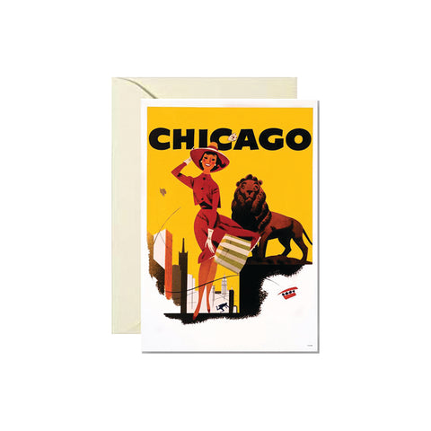 Lady & Lion Chicago Card