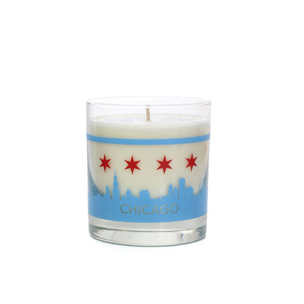 Chicago Skyline Soy Candle Crash Natural Soy Candles - Foursided