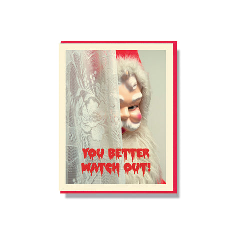 Creepy Santa Holiday Card Set (multiple styles)