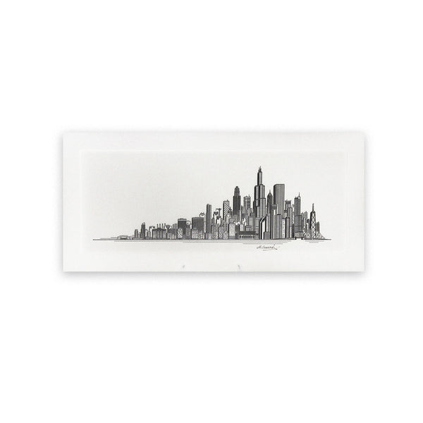 Chicago Skyline Print Enfiniti Design - Foursided