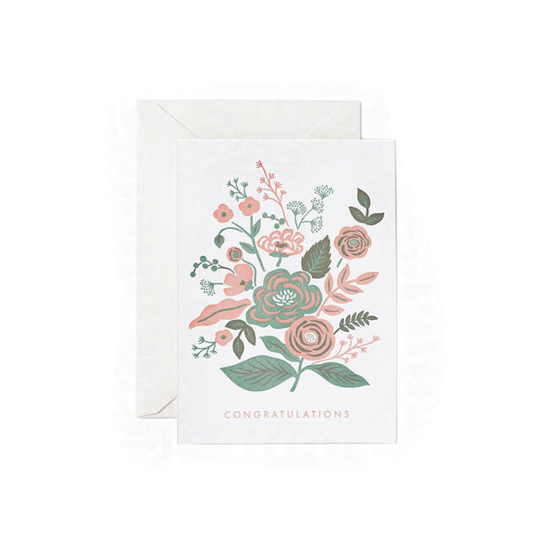 Floral Congratulations Card Rifle Paper Co. - Foursided