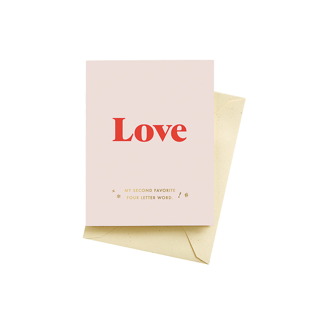 Four Letter Word Love Card Seltzer - Foursided