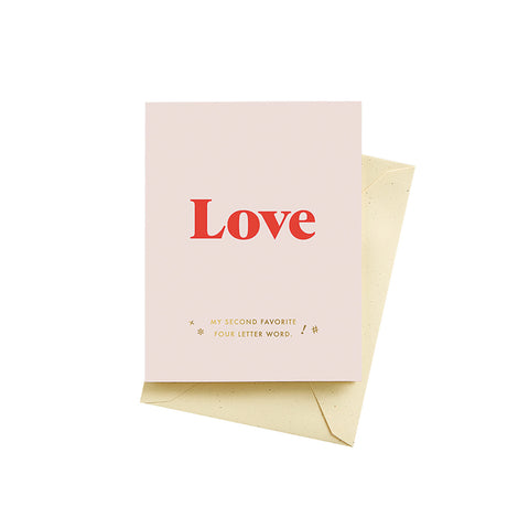 Four Letter Word Love Card
