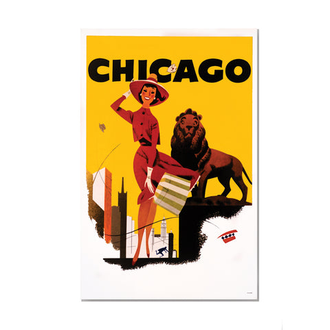 Chicago Lady and Lion Poster