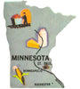 Framed Minnesota Puzzle Piece Foursided - Foursided