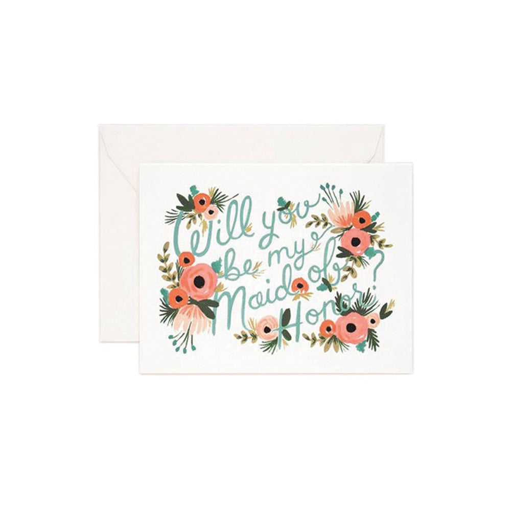 Maid of Honor Card Rifle Paper Co - Foursided