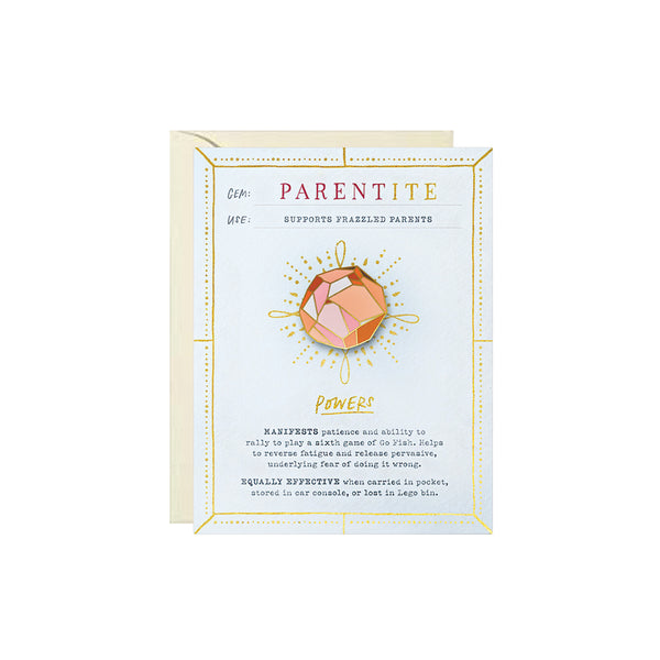 Parentite Pin Card