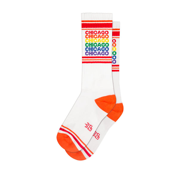 Rainbow Chicago Gym Socks Gumball Poodle - Foursided