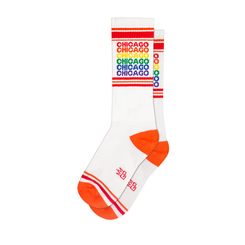 Rainbow Chicago Gym Socks
