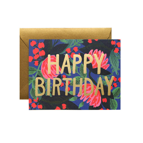 Floral Foil Birthday Rifle - Foursided