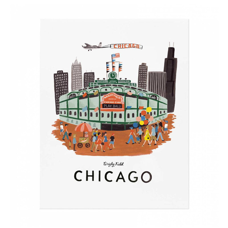 Wrigley Field Print Rifle Paper Co. - Foursided