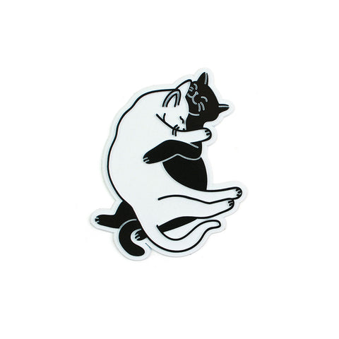 Snuggle Cats Retro Magnet
