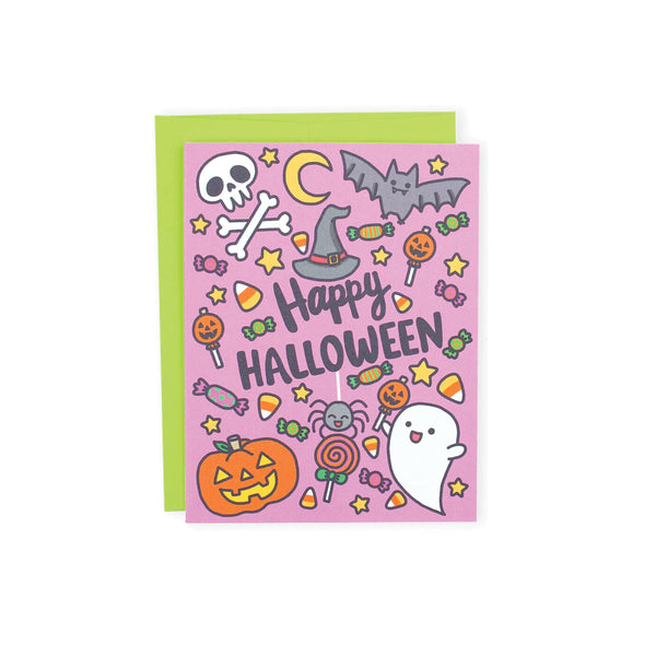 Cute Halloween Card Turtle's Soup - Foursided
