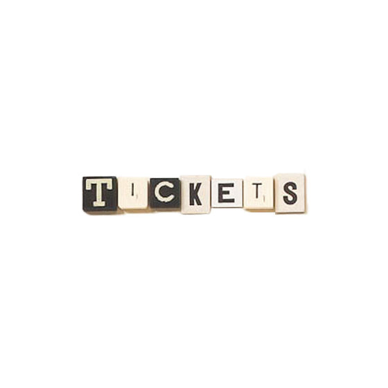 "Black ""Tickets"" Ticket Box Foursided - Foursided"