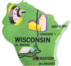 Framed Wisconsin Puzzle Piece Foursided - Foursided