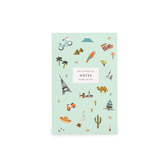 Wanderlust Pocket Notepad Rifle Paper Co. - Foursided