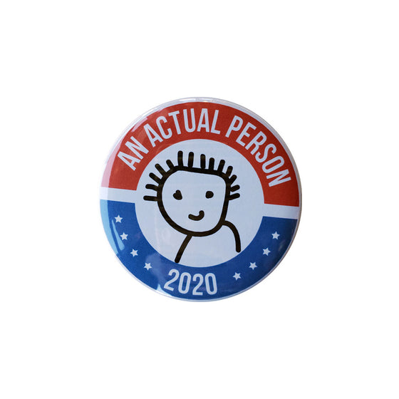 "Actual Person 2020 3"" Button Foursided - Foursided"