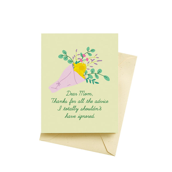 Mom Advice Card Seltzer - Foursided