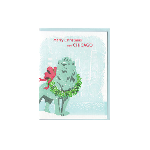 Chicago Lion Christmas Card