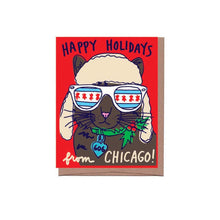 Chicago Alpine Cat Holiday Card
