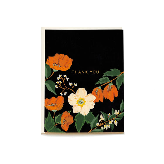 Autumn Poppy Boxed Thank You Cards