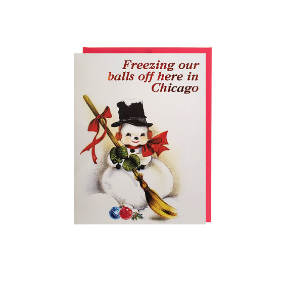 Freezing Our Balls Off In Chicago Card Set (6) Smitten Kitten - Foursided