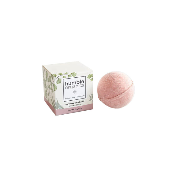 Bath Bomb (multiple scents) Humble Organics - Foursided